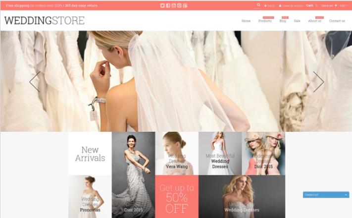 Wedding Store Shopify Theme