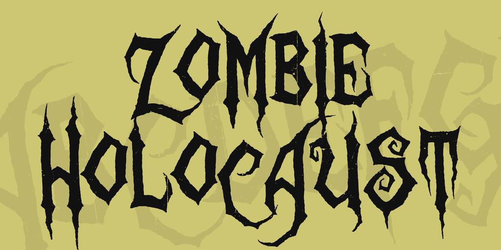 Zombie Holocaust Font