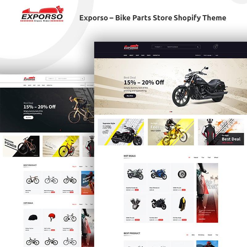 Bike Parts Store Shopify Theme