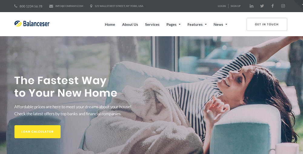 Balanceser - Financial Services Elementor WordPress Theme