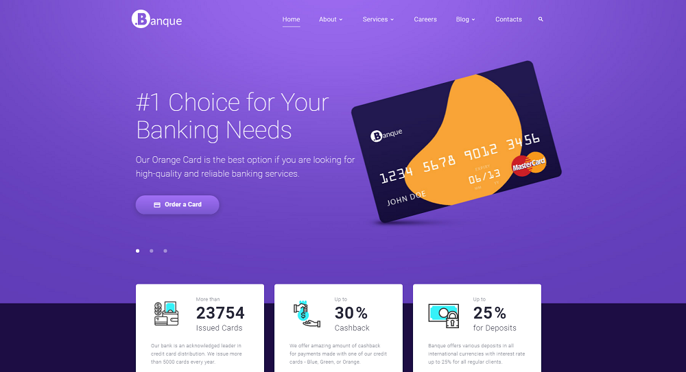 .Banque - Financial Multipage HTML5 Website Template