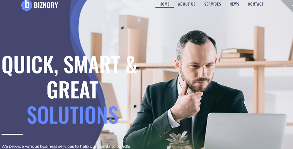 Biznory - Business Elementor WordPress Theme