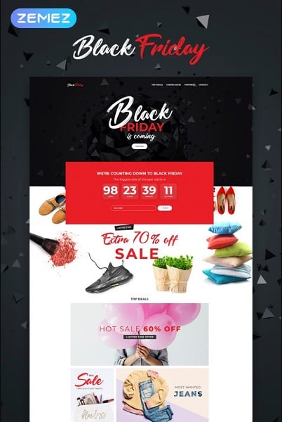 Black Friday - Event Planner Element WordPress Theme