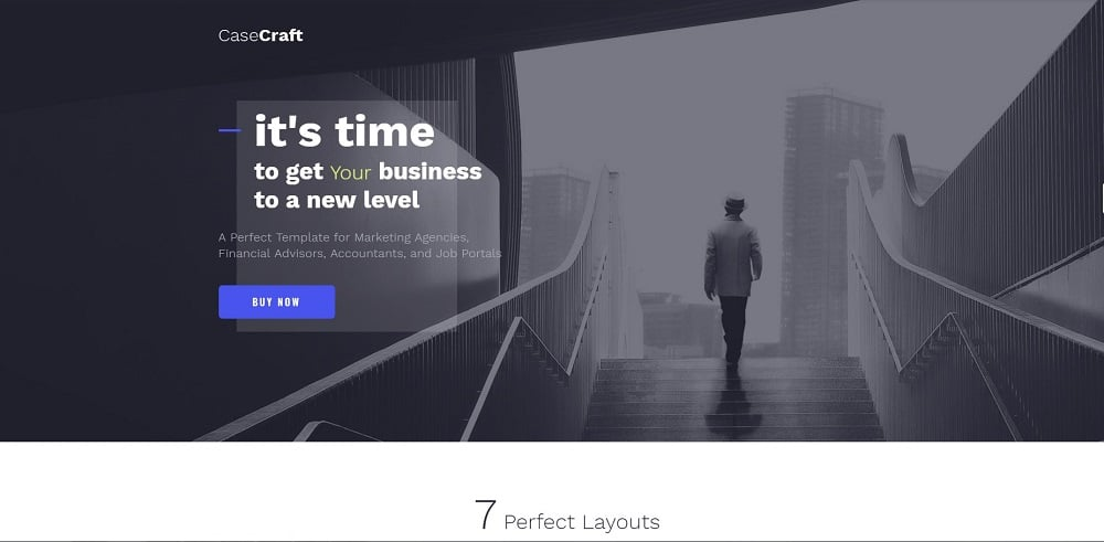 CaseCraft - Elegant Financial Company Multipage Website Template