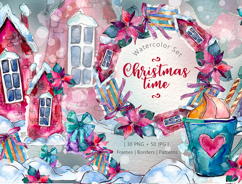 Christmas Illustration.15 Awesome Christmas Illustration Sets To Boost Your Creativity