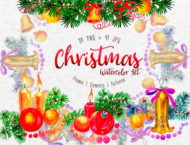 Christmas Watercolor PNG