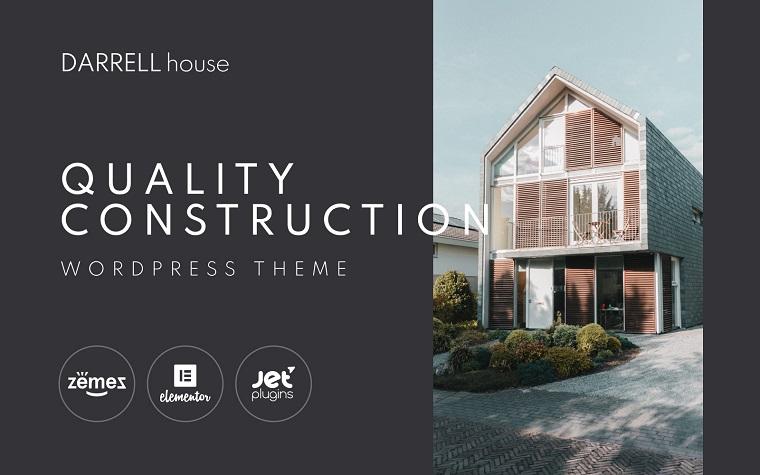 Darrell house - Quality Construction WordPress Theme.