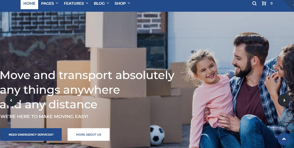 FastRoad - Moving Company Responsive Elementor WordPress Theme