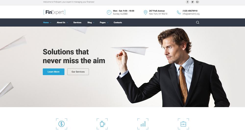 Financial Advisor Responsive Website Template