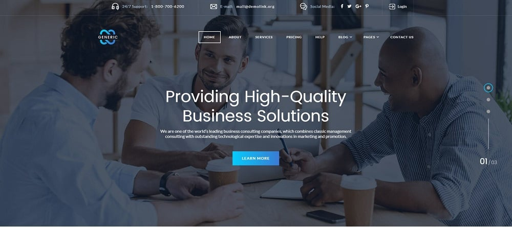Generic - Creative Business Consulting Multipage HTML Website Template