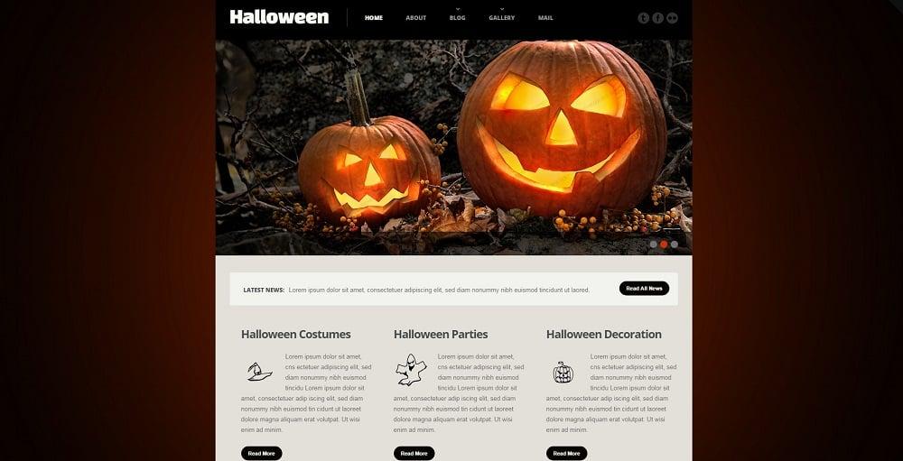 Halloween Responsive Website Template