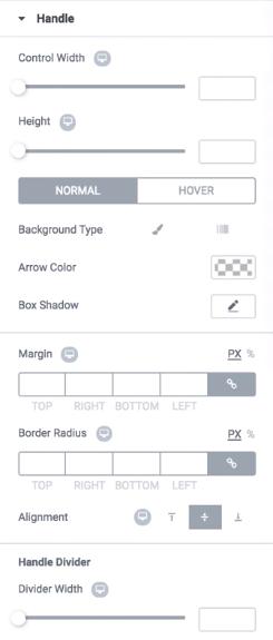 handle arrow type