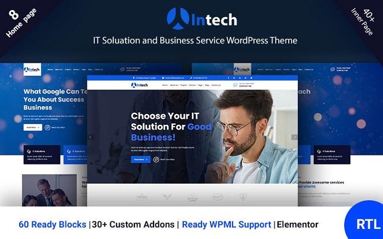 Intech – IT And Technology Elementor Portfolio WordPress Theme