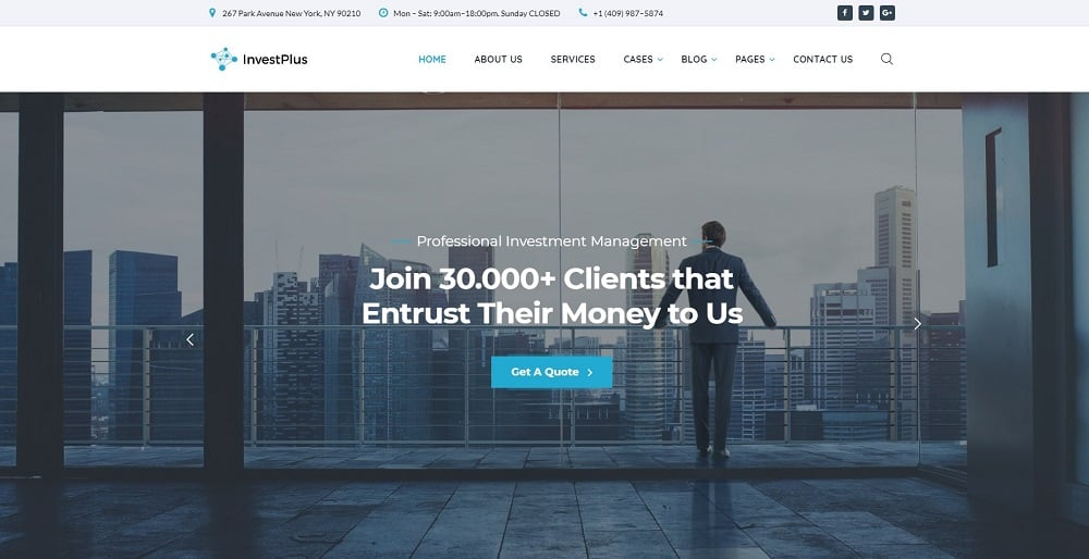 Invest Plus - Investment Company HTML5 Website Template