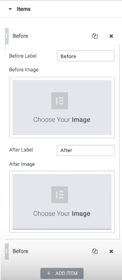 items block add images