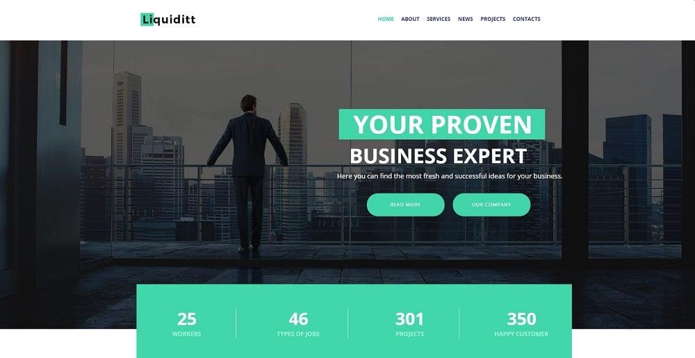 Liquiditt - Business Consulting Moto CMS HTML Template