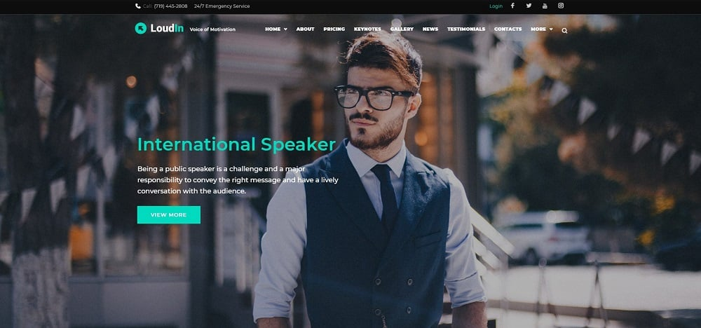 Loudin - Public Speaking Elementor WordPress Theme