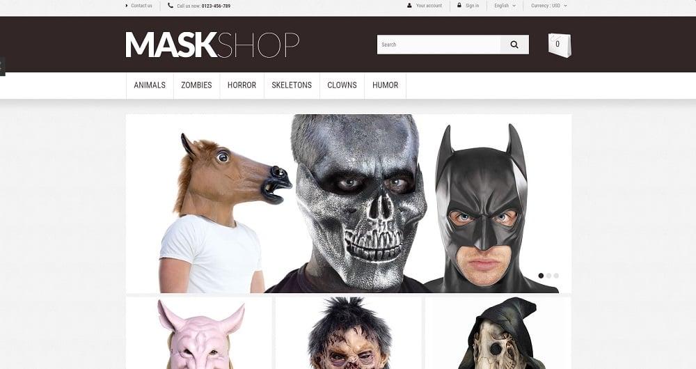 Masquerade Mask PrestaShop Theme
