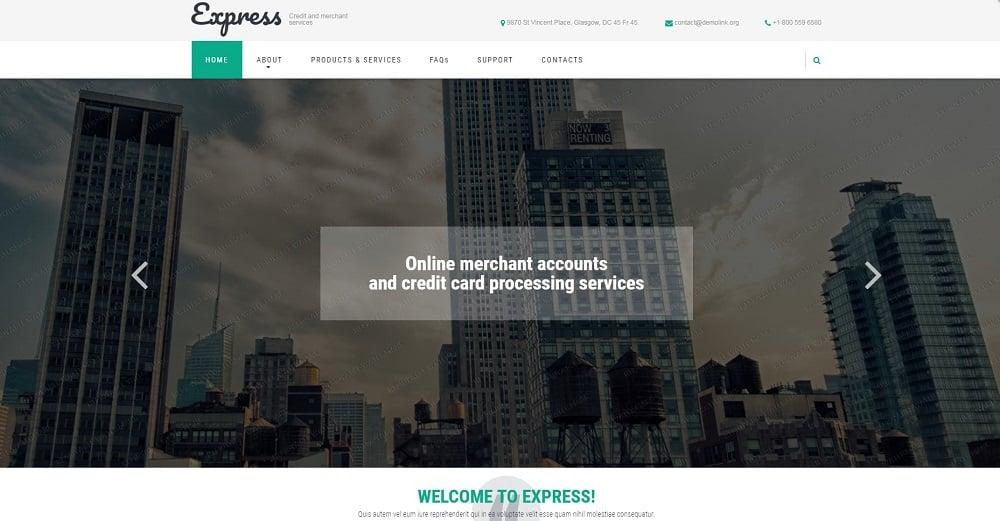 Merchant Services Website Template
