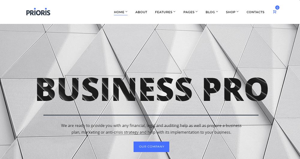 Prioris - Consulting Agency Elementor WordPress Theme