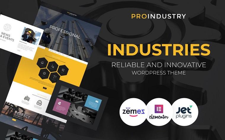 ProIndustry – Industrial Elementor Portfolio WordPress Theme
