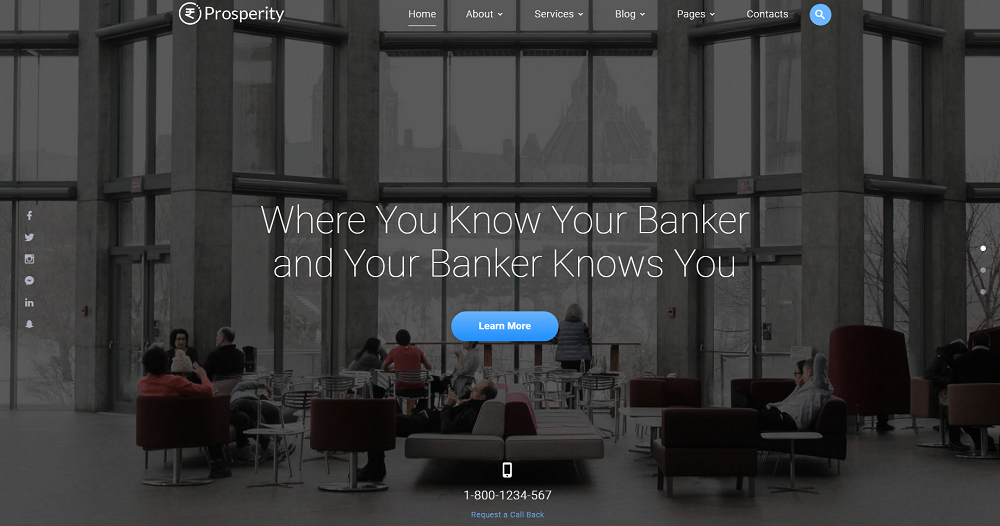 Prosperity - Banking Multipage HTML5 Website Template