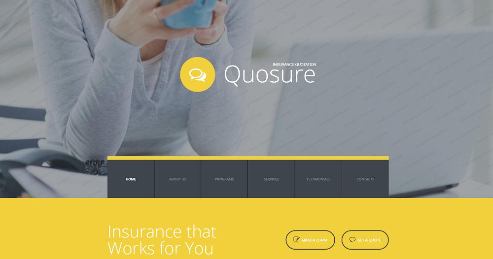 Quosure Website Template