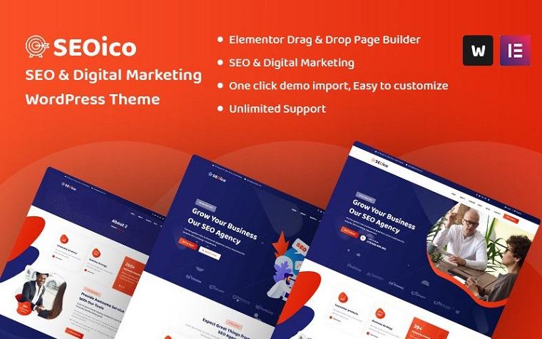 Seoico - SEO & Digital Marketing WordPress Theme.