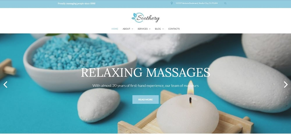 Soothery - SPA & Massage Salon Responsive WordPress Theme
