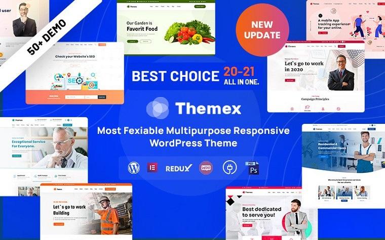 Themex – Multipurpose Responsive Elementor Portfolio WordPress Theme
