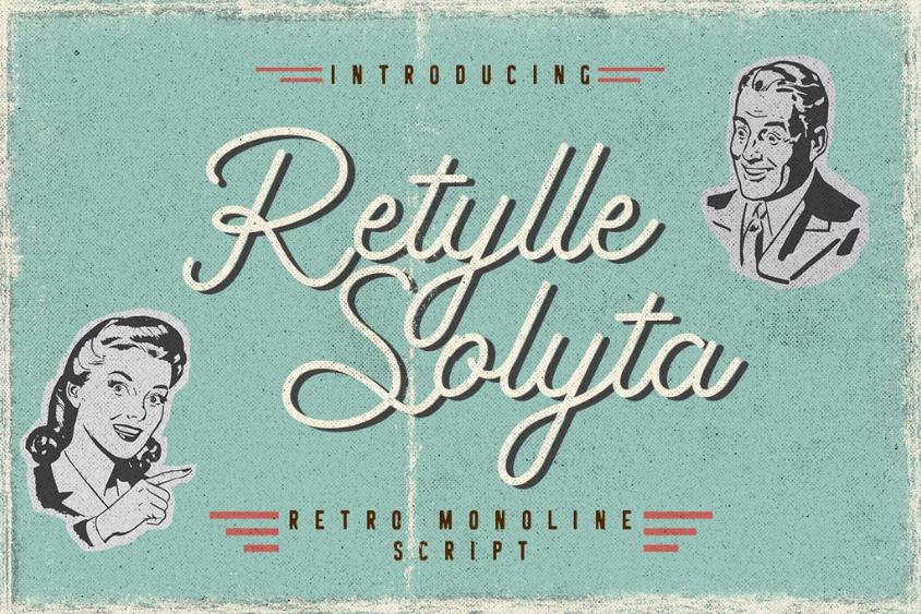 Retylle Solyta Trendy fonts