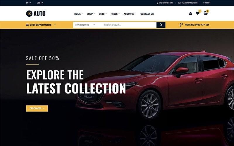 Auto Repair - Car Mechanic Services WooCommerce Theme.