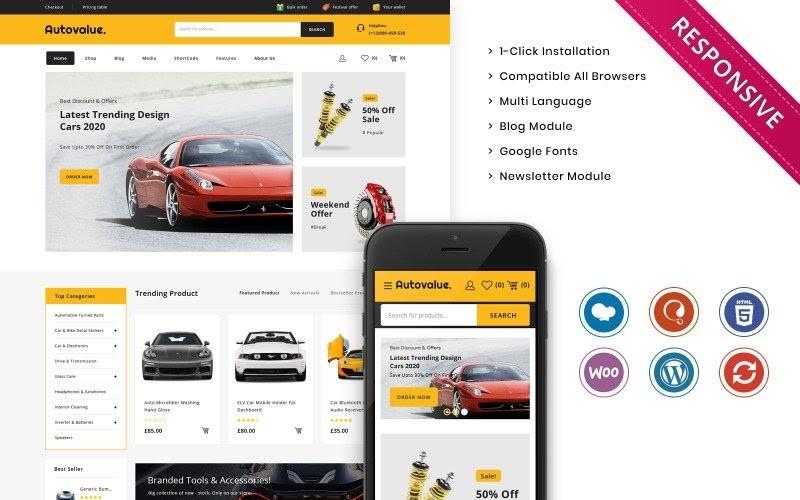 Auto value - The Automobile Store Responsive WooCommerce Theme.