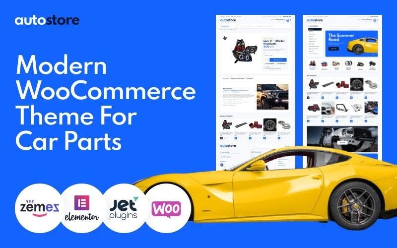 AutoStore - Car Parts Elementor WooCommerce Theme.