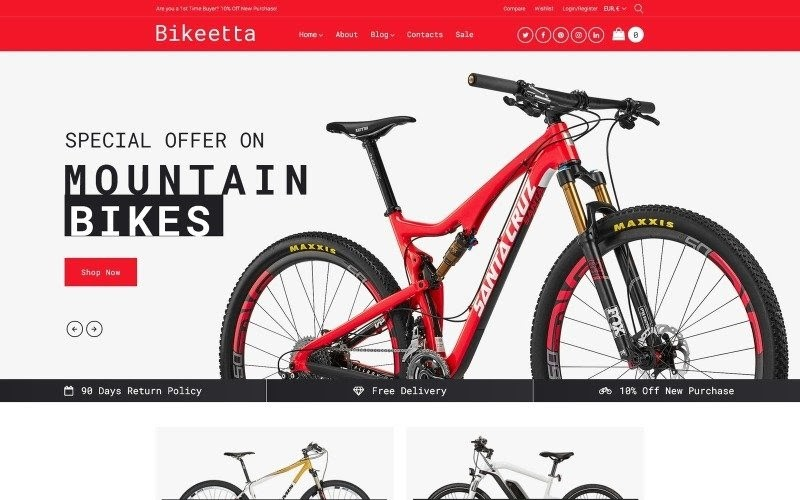 Bikeetta - Bikes Store WooCommerce Theme.