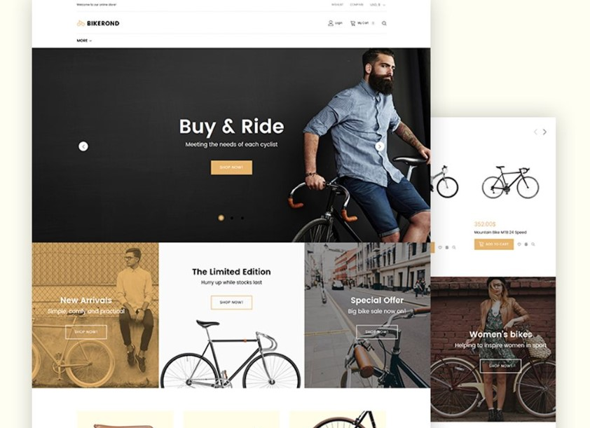 Bikerond - Bike Shop Elementor WooCommerce Theme.
