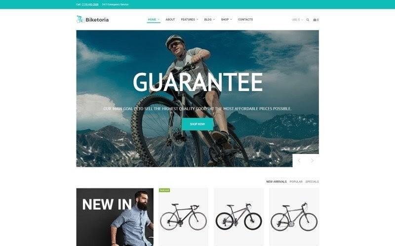 Biketoria- Bike Shop Elementor WooCommerce Theme.
