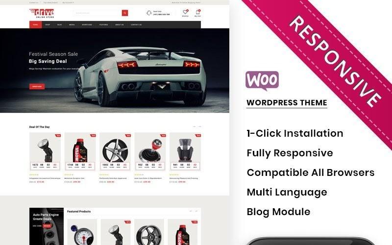 Drive - The Online Autoparts Store Premium WooCommerce Theme.