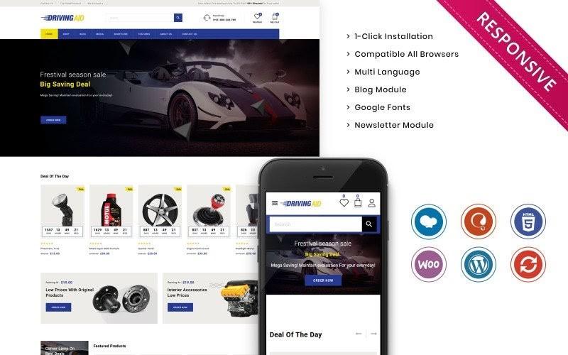 Drivingaid - The Automobile Store Responsive WooCommerce Theme.