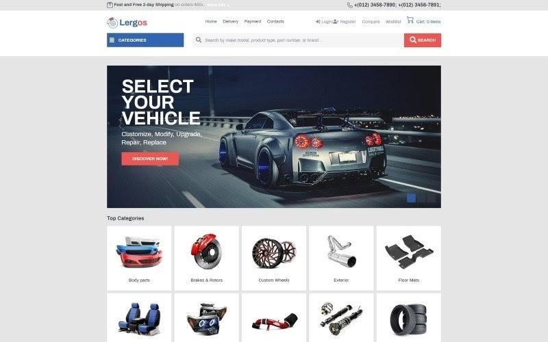 Lergos - Car Spare Parts ECommerce Classic Elementor WooCommerce Theme.