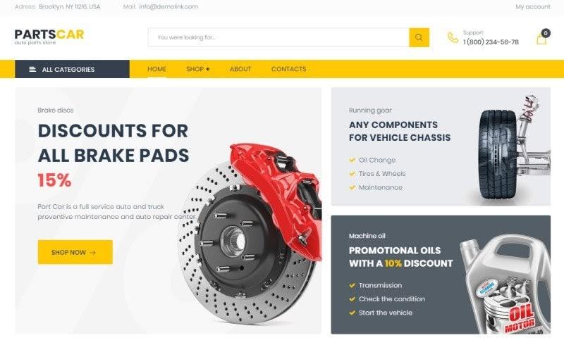 PartsCar - Car Repair Classic Elementor WooCommerce Theme.