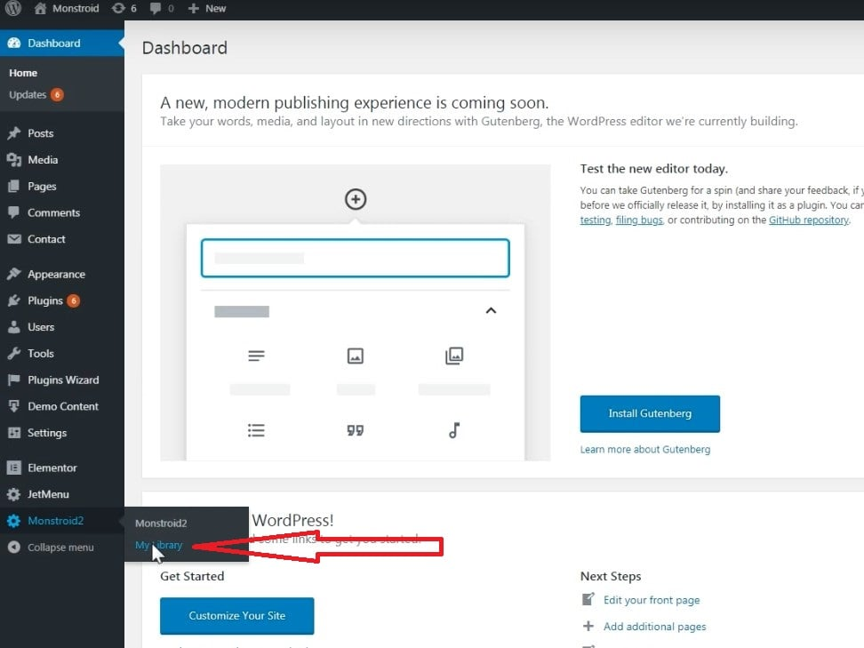 Monstroid2 Guide: How To Customize Header and Footer with