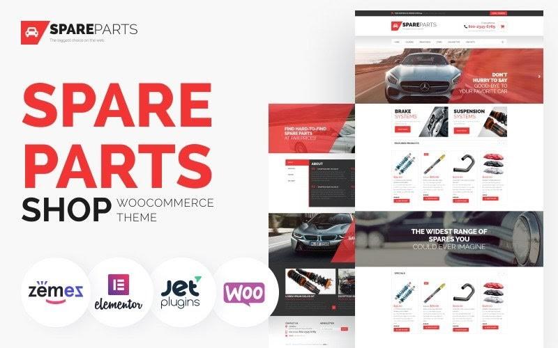 SpareParts - Spare Parts Shop ECommerce Modern Elementor WooCommerce Theme.