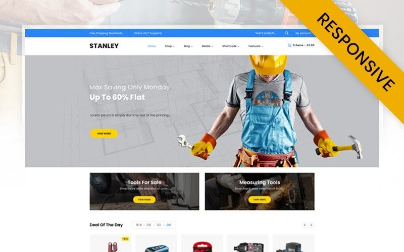 Stanley - Tools Hardware Store WooCommerce Theme.