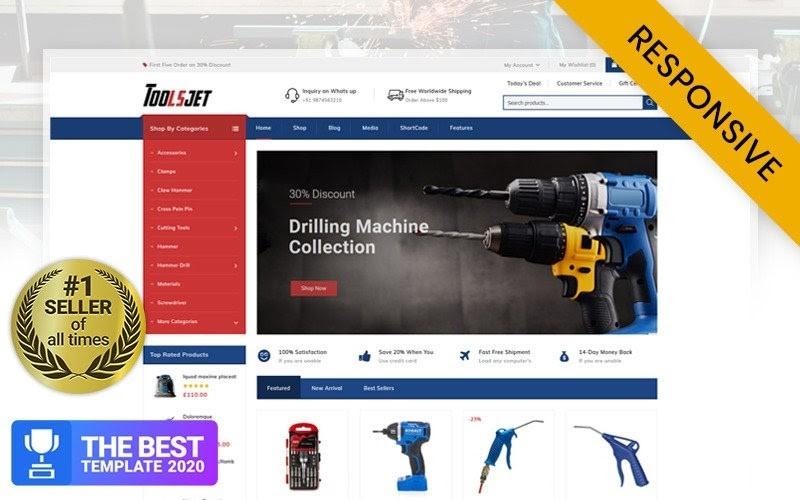 Toolsjet - Hardware Store WooCommerce Theme.