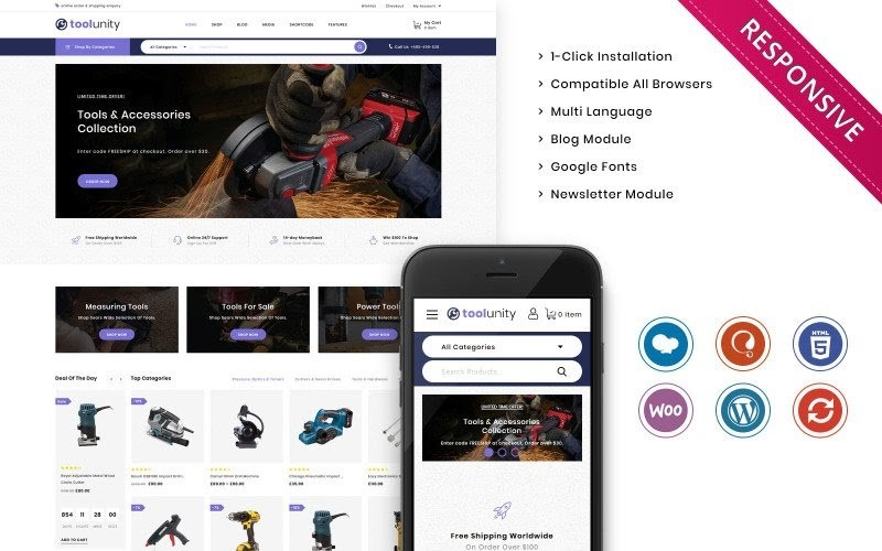 Toolunity - The Tootstore Responsive WooCommerce Theme.