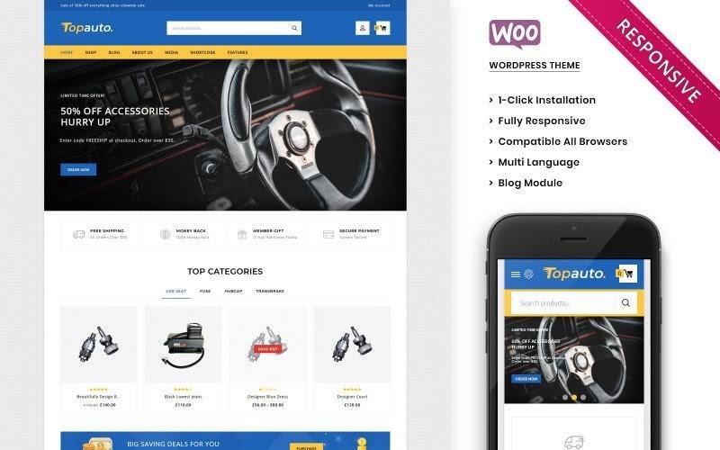 Topauto - The Autopart Responsive WooCommerce Theme.