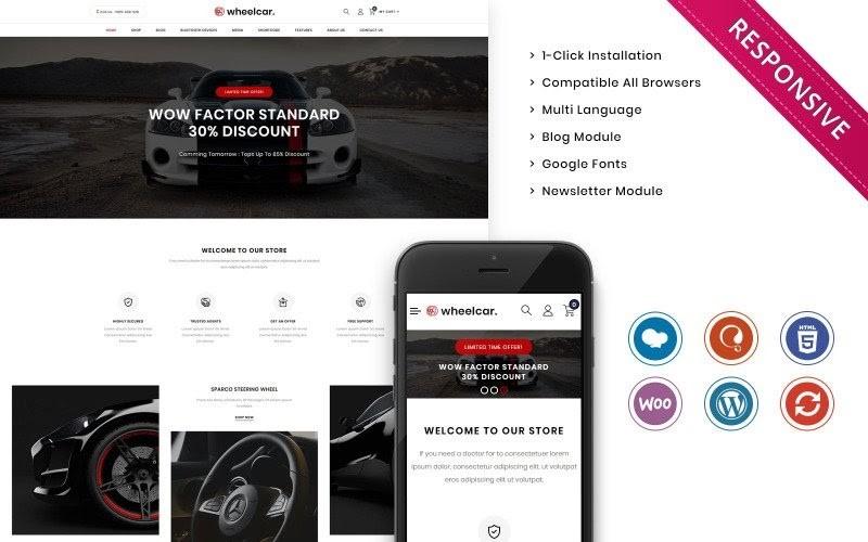 Wheelcar - Automobile Store Premium Woocommerce Template.