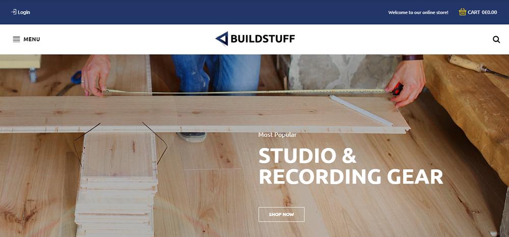 Buildstuff - Building Tools Elementor WooCommerce Theme
