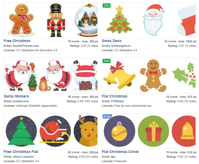 Christmas Icons by Icon Archive